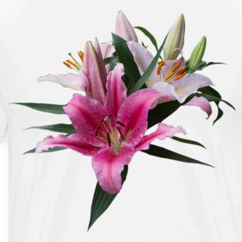 Lilien Blüten - Männer Premium T-Shirt