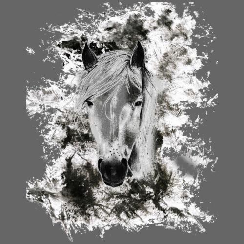 Cooler Pferdekopf Geschenk für Reiterin Pferde - Männer Premium T-Shirt