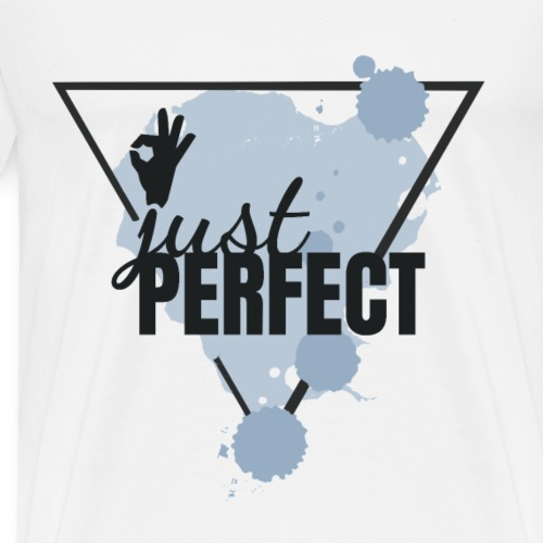 JUST PERFECT - BLAU - Männer Premium T-Shirt