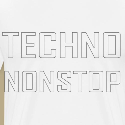 Techno Nonstop schwarz - Männer Premium T-Shirt