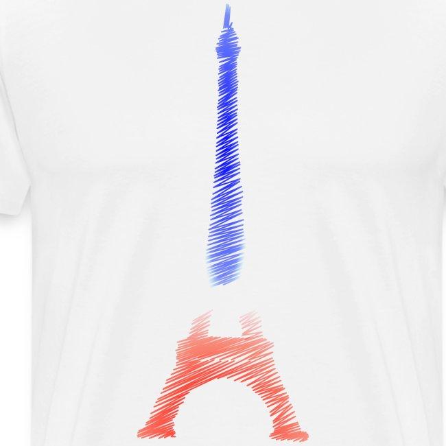 Tour Eiffel Bleu Blanc Rouge Tricolore Paris