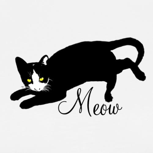 katze schwarzböse meow2 b - Männer Premium T-Shirt