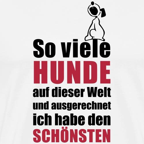 Der schönste HUND - Männer Premium T-Shirt