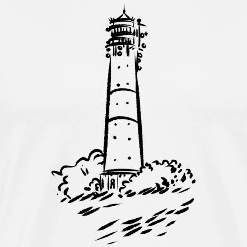 Leuchtturm Hörnum Sylt Art Design - Männer Premium T-Shirt