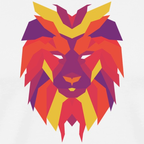 VIbrant Lion Head - Men's Premium T-Shirt