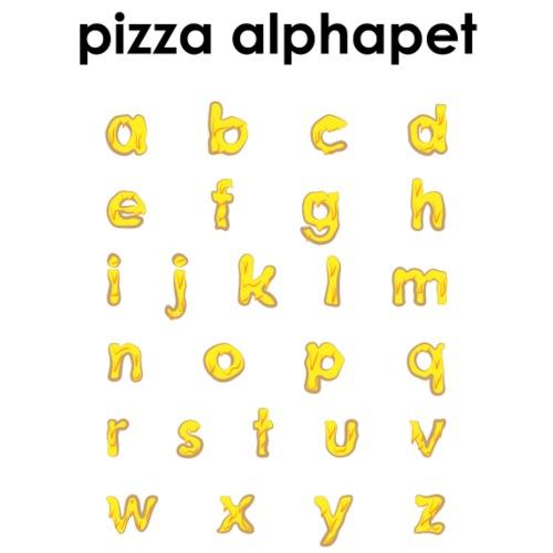 Pizza Alphabet - Männer Premium T-Shirt