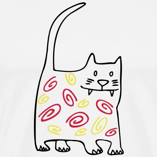 schöne dicke katze - Männer Premium T-Shirt