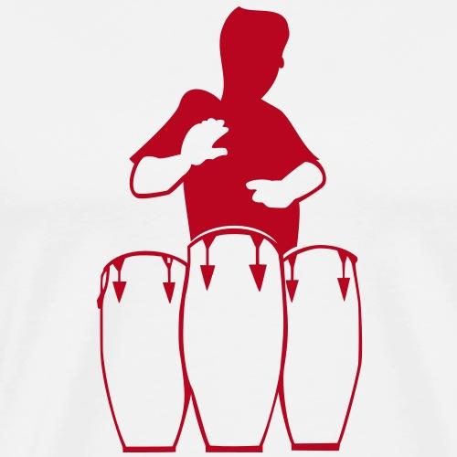 trommler, conga spieler - Männer Premium T-Shirt
