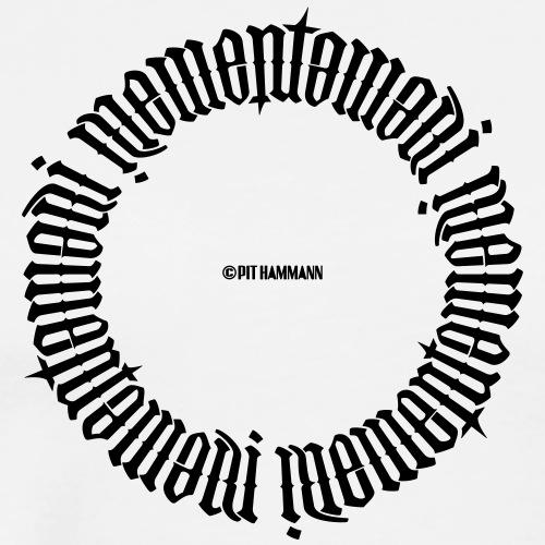 Ambigramm Memento mori 01 Pit Hammann - Männer Premium T-Shirt