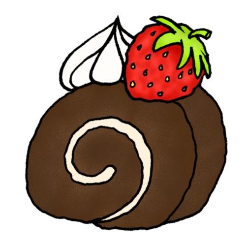 Biskuitrolle Schokolade mit Sahne und Erdbeere - Männer Premium T-Shirt