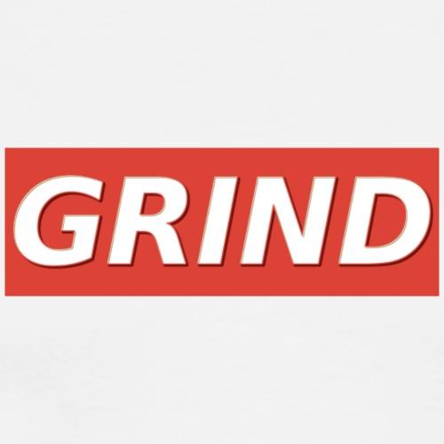 GRIND BOXED LOGO - Mannen Premium T-shirt