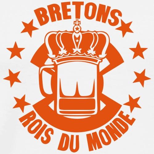 bretons roi du monde biere couronne alco - T-shirt Premium Homme