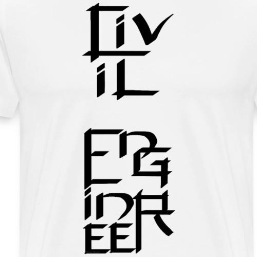 Civil Engineer Character - Men's Premium T-Shirt