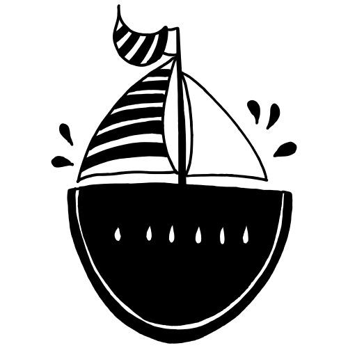 Lustige Melone Segelboot Individuelles Geschenk - Männer Premium T-Shirt