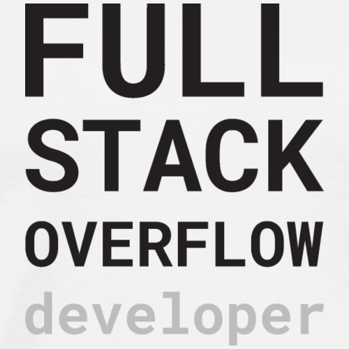 Full stack overflow developer - Mannen Premium T-shirt