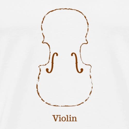 Violin - Herre premium T-shirt