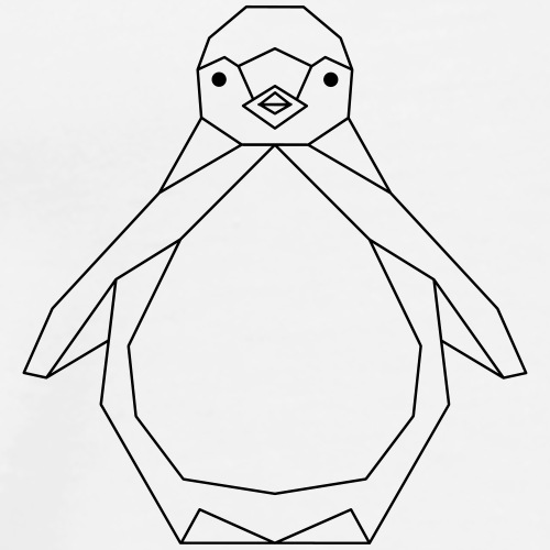 Pinguin geometrisch - Männer Premium T-Shirt