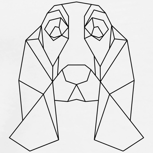 Hund Dackel geometrisch - Männer Premium T-Shirt