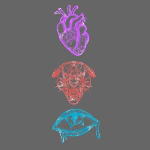 Corazón, León y Ojo - Camiseta premium hombre