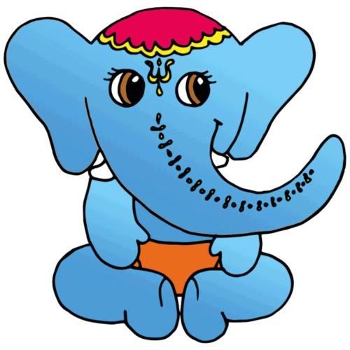 Elefant im Dirndl - Männer Premium T-Shirt