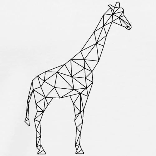 Giraffe Geometrisch schwarz - Männer Premium T-Shirt