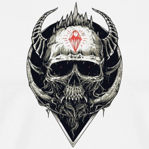 Totenkopf mit rotem Symbol - Männer Premium T-Shirt