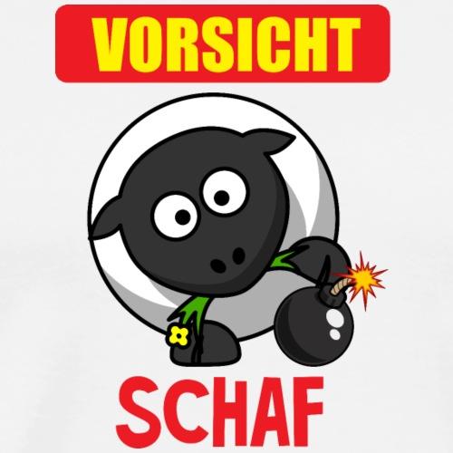 Vorsicht Schaf - Tierisch lustig - fun4m3 - Männer Premium T-Shirt