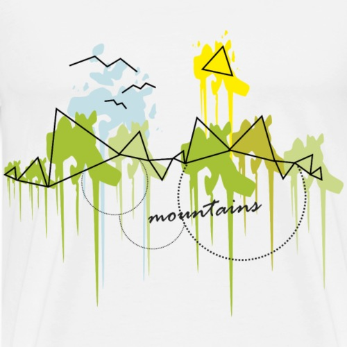 MOUNTAINS - GEOMETRY - KLECKSE - Maglietta Premium da uomo