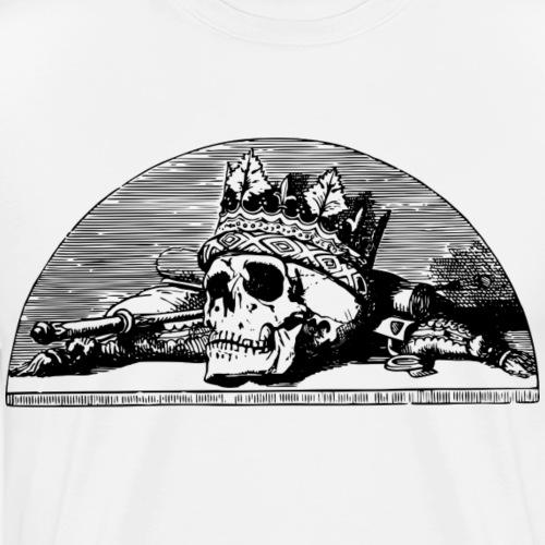 Cráneo Rey/ KING - Camiseta premium hombre