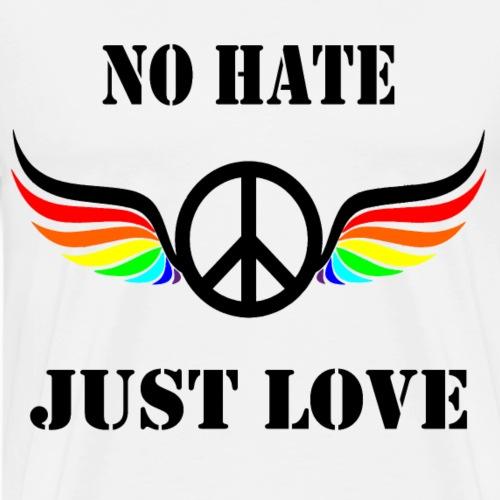 Frieden, kein Hass nur Liebe - Männer Premium T-Shirt
