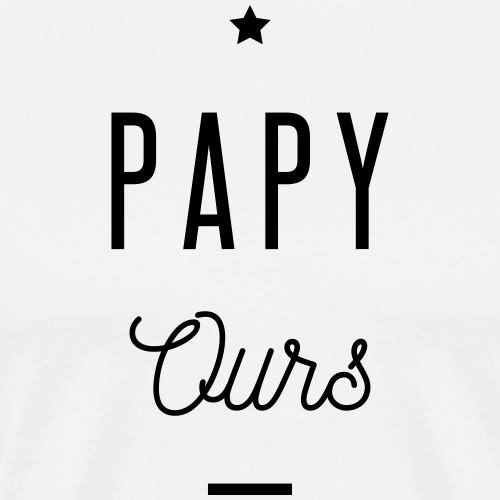 PAPY OURS - T-shirt Premium Homme