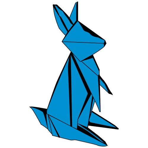 Origami Bunny - Men's Premium T-Shirt