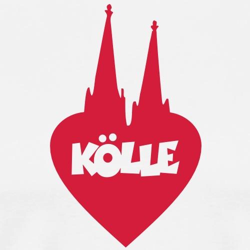 I Love Kölle Köln Herz mit Kölner Dom - Männer Premium T-Shirt