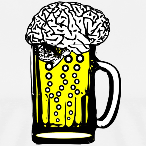 Beer Brain - Men's Premium T-Shirt