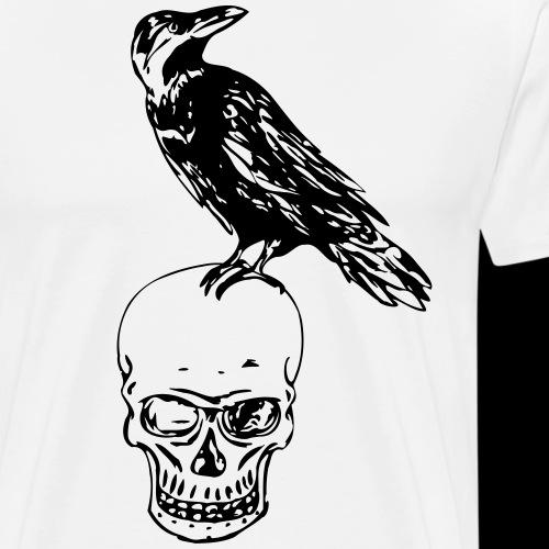 Raven of death - Miesten premium t-paita