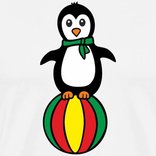 Pinguin auf einem Ball - Männer Premium T-Shirt