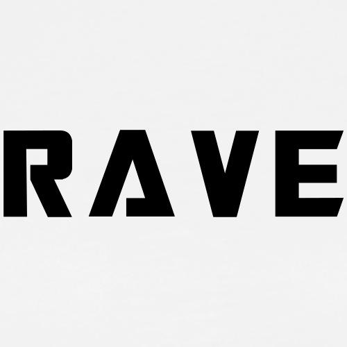 Rave Schriftzug Digital Electronic Music - Männer Premium T-Shirt