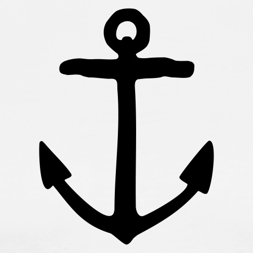Anker Segel Design für Segler - Männer Premium T-Shirt