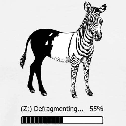 Defragmentiertes Zebra - Männer Premium T-Shirt