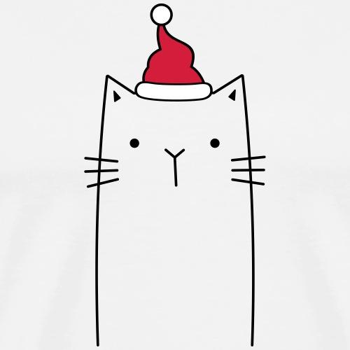 Katze Nikolaus Weihnachten Mütze Geschenkidee