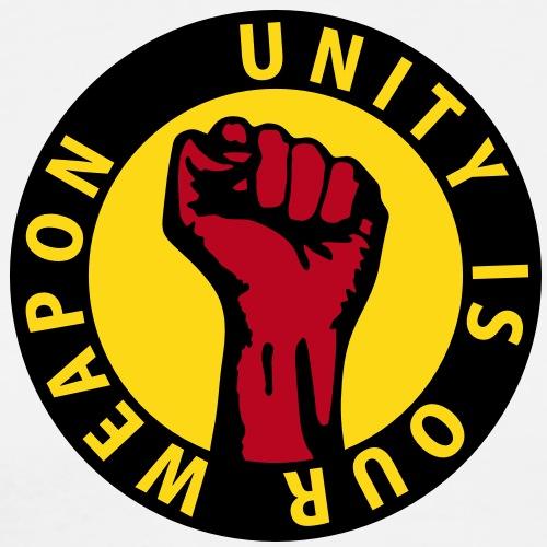 3 colors - unity is our weapon - against - Männer Premium T-Shirt