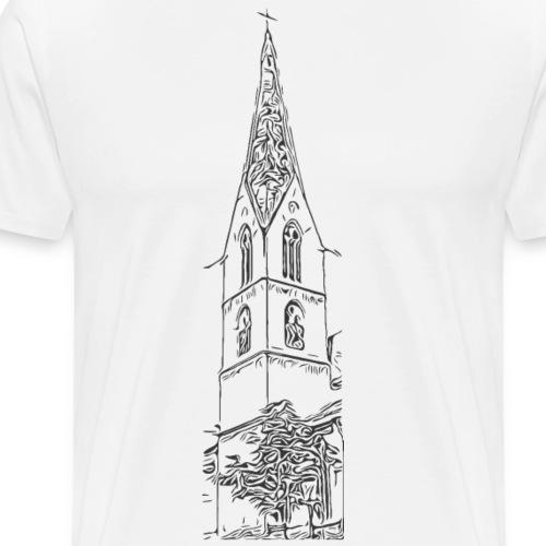 Heilig-Kreuz-Münster Rottweil schwarz - Männer Premium T-Shirt