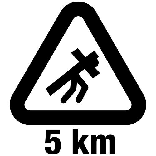 warning sign jesus - T-shirt Premium Homme