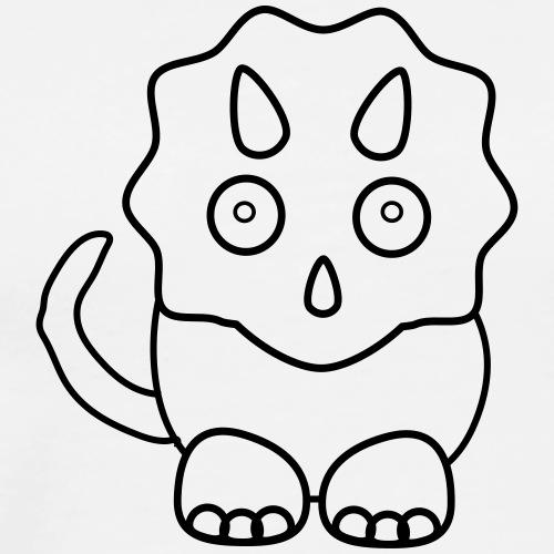 Clip Art 4 Kids - Triceratops - Männer Premium T-Shirt