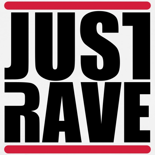 Just Rave Logo - Techno Festivals After Hour PLUR - Männer Premium T-Shirt