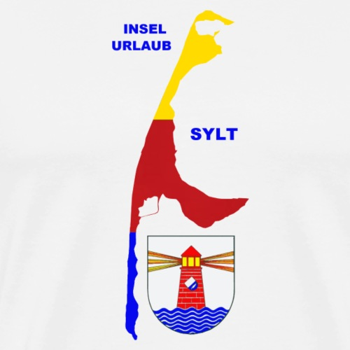 Sylt Insel Nordsee Urlaub - Männer Premium T-Shirt