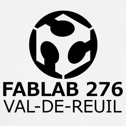 Logo FabLab 276 noir et blanc - T-shirt Premium Homme