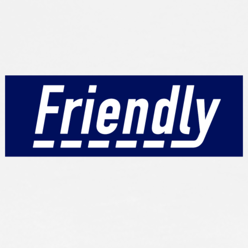 FRIENDLY BOX LOGO - Men's Premium T-Shirt