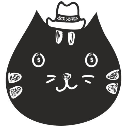 Katze mit Hut - Männer Premium T-Shirt