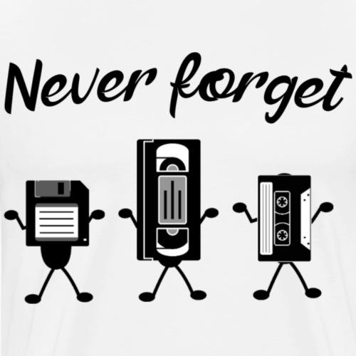 Never forget - Mannen Premium T-shirt